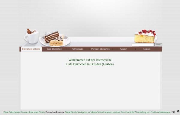 Vorschau von www.cafe-bluemchen.de, Cafe & Pension Blümchen