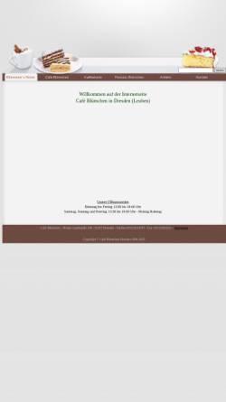 Vorschau der mobilen Webseite www.cafe-bluemchen.de, Cafe & Pension Blümchen