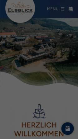 Vorschau der mobilen Webseite www.elbblick-pillnitz.de, Hotel Pillnitzer Elbblick
