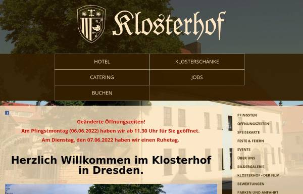 Vorschau von www.dresden-klosterhof.de, Klosterhof Dresden