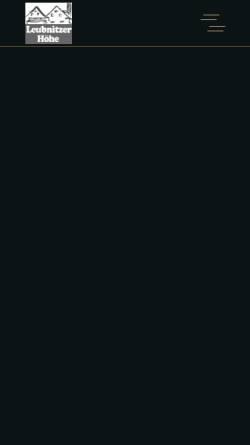 Vorschau der mobilen Webseite www.leubnitzer-hoehe.de, Leubnitzer Höhe