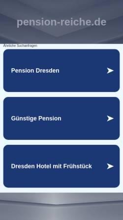 Vorschau der mobilen Webseite www.pension-reiche.de, Pension Reiche mit Gaststätte