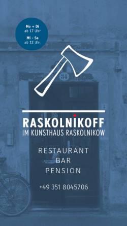 Vorschau der mobilen Webseite www.raskolnikoff.de, Raskolnikoff
