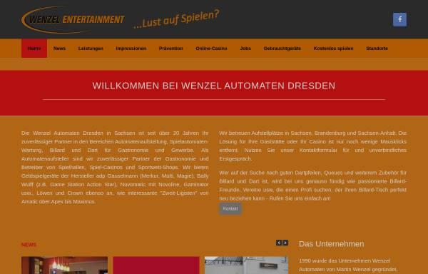 Vorschau von wenzel-automaten.de, Wenzel Automaten