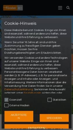 Vorschau der mobilen Webseite www.foerster-schwanau.de, Gebr. Förster GmbH