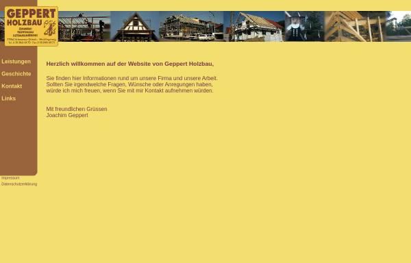 Vorschau von www.geppert-holzbau.de, Geppert Holzbau