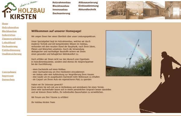 Vorschau von www.holzbau-kirsten.de, Holzbau Kirsten