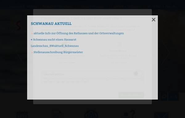 Vorschau von www.schwanau.de, Schwanau