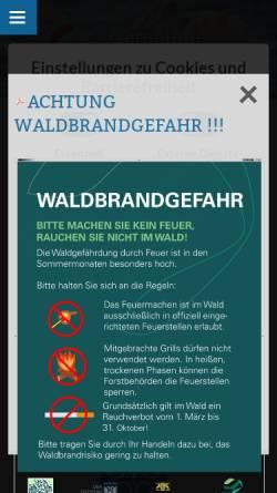 Vorschau der mobilen Webseite www.schwanau.de, Schwanau