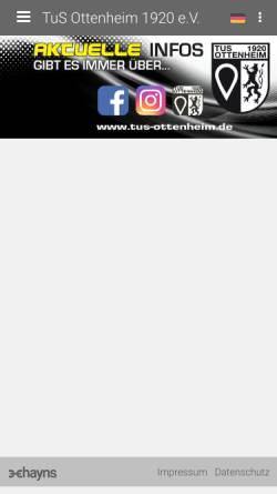 Vorschau der mobilen Webseite tus-ottenheim.de, Turn und Sportverein Ottenheim 1920 e.V.