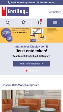Vorschau der mobilen Webseite www.erstling.de, Erstling GmbH