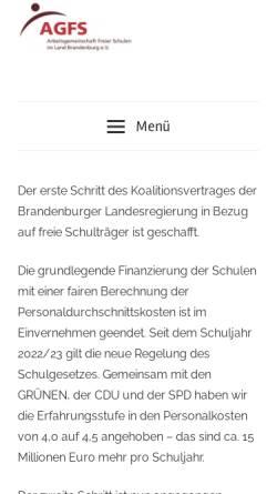 Vorschau der mobilen Webseite freie-schulen-brandenburg.de, Freie Schulen Brandenburg