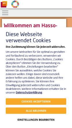 Vorschau der mobilen Webseite hpi.de, Hasso-Plattner-Institut GmbH