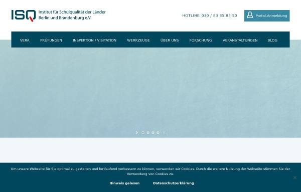 Vorschau von www.isq-bb.de, Institut für Schulqualität