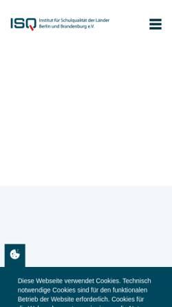 Vorschau der mobilen Webseite www.isq-bb.de, Institut für Schulqualität