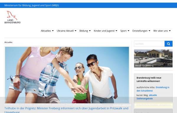 Vorschau von mbjs.brandenburg.de, Ministerium für Bildung, Jugend und Sport (MBJS)