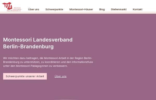 Vorschau von www.montessori-bb.de, Montessori Landesverband Berlin - Brandenburg e.V.