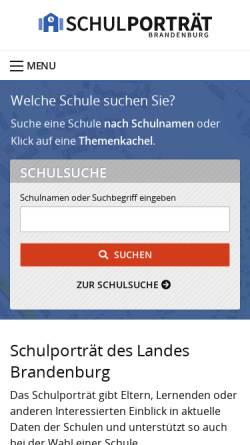 Vorschau der mobilen Webseite www.bildung-brandenburg.de, Schulporträts des Landes Brandenburg - Ministerium für Bildung, Jugend und Sport des Landes Brandenburg