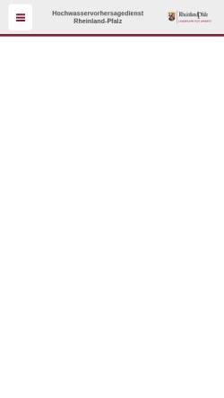 Vorschau der mobilen Webseite www.hochwasser-rlp.de, Hochwassermeldedienst Rheinland-Pfalz