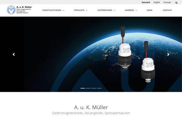 Vorschau von www.akmueller.de, A. u. K. Müller GmbH & Co. KG