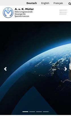 Vorschau der mobilen Webseite www.akmueller.de, A. u. K. Müller GmbH & Co. KG