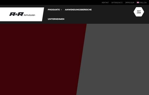 Vorschau von www.ar-armaturen.com, A+R Armaturen GmbH