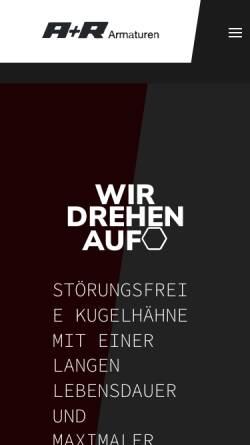 Vorschau der mobilen Webseite www.ar-armaturen.com, A+R Armaturen GmbH
