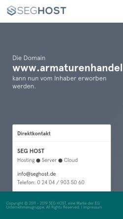 Vorschau der mobilen Webseite www.armaturenhandel.de, Armaturen Online, Inh. Norbert Janus
