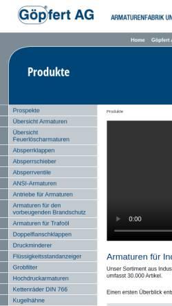 Vorschau der mobilen Webseite www.goepfert-ag.com, Göpfert AG