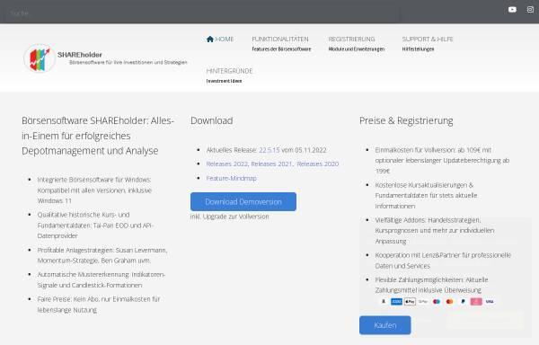 Vorschau von www.shareholder24.de, ProSoft24 - Jens Werschmöller