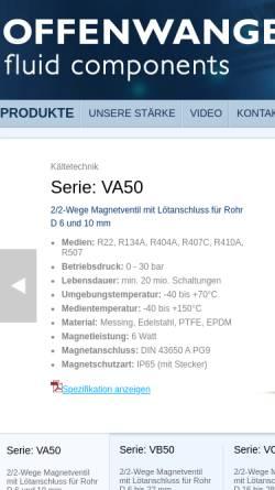 Vorschau der mobilen Webseite offenwanger.com, Offenwanger GmbH