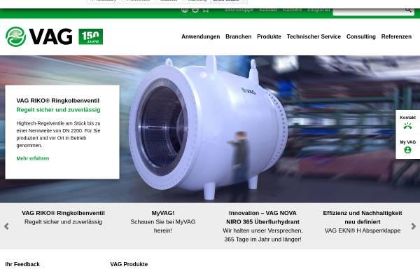 Vorschau von www.vag-group.com, VAG Armaturen GmbH