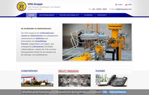 Vorschau von www.vhg-gruppe.de, VHG Threna Flansch- und Fittinghandel GmbH & Co.KG