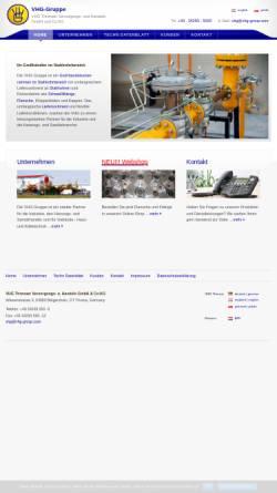 Vorschau der mobilen Webseite www.vhg-gruppe.de, VHG Threna Flansch- und Fittinghandel GmbH & Co.KG
