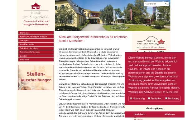 Vorschau von www.tcmklinik.de, Klinik am Steigerwald, Gerolzhofen