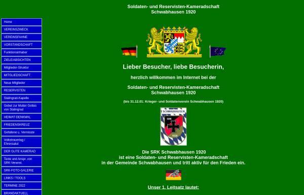Vorschau von srkschwabhausen.beepworld.de, Soldaten- und Reservisten-Kameradschaft Schwabhausen 1920