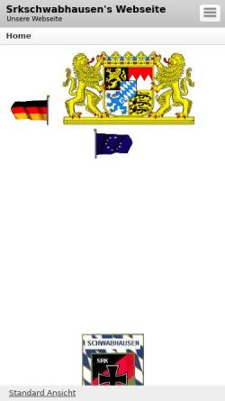 Vorschau der mobilen Webseite srkschwabhausen.beepworld.de, Soldaten- und Reservisten-Kameradschaft Schwabhausen 1920