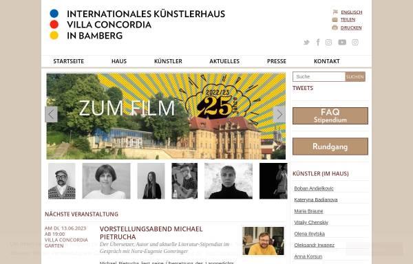Vorschau von www.villa-concordia.de, Internationales Künstlerhaus Villa Concordia