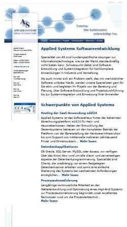 Vorschau der mobilen Webseite www.appliedsystems.de, Applied Systems Software und Systeme GmbH