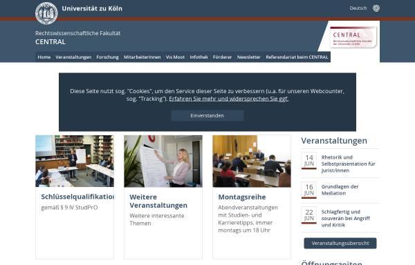 Vorschau von www.central.uni-koeln.de, Central Center for Transnational Law
