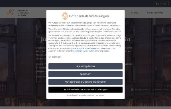 Vorschau von www.juristische-gesellschaft.de, Juristische Gesellschaft zu Berlin