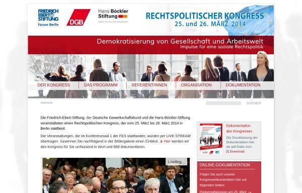 Vorschau von www.rechtspolitischer-kongress.de, Rechtspolitischer Kongress 2002 der Friedrich Ebert Stiftung