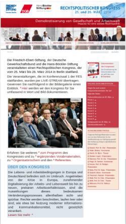 Vorschau der mobilen Webseite www.rechtspolitischer-kongress.de, Rechtspolitischer Kongress 2002 der Friedrich Ebert Stiftung