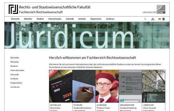 Vorschau von www.zew.uni-bonn.de, Zentrum für Europäisches Wirtschaftsrecht