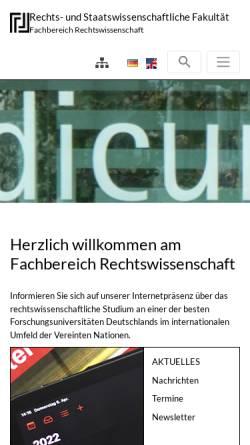 Vorschau der mobilen Webseite www.zew.uni-bonn.de, Zentrum für Europäisches Wirtschaftsrecht