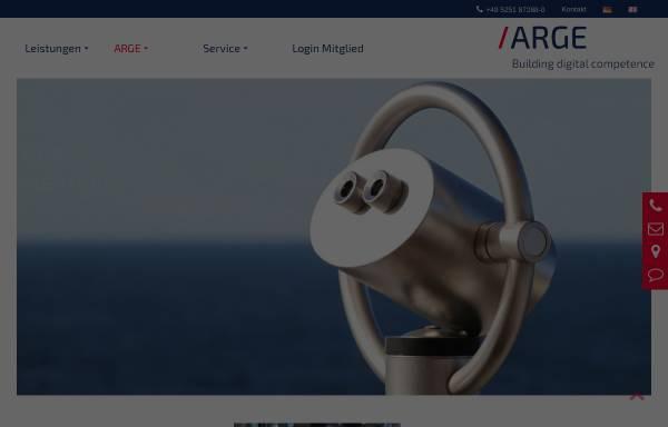 Vorschau von www.arge.de, ARGE Neue Medien der deutschen SHK-Industrie e.V.