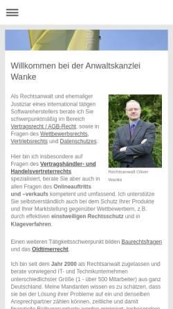 Vorschau der mobilen Webseite www.computervertrag.de, WebJus