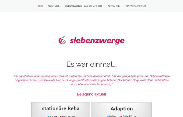 Vorschau von www.siebenzwerge.info, Heilstätte Sieben Zwerge