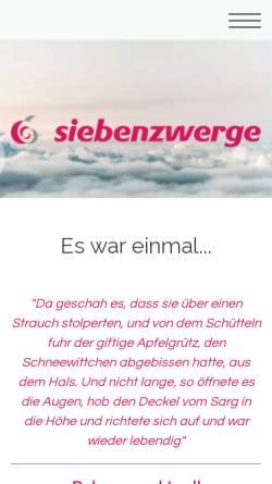Vorschau der mobilen Webseite www.siebenzwerge.info, Heilstätte Sieben Zwerge