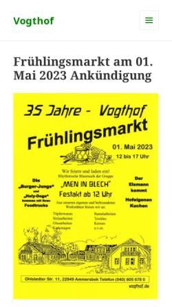 Vorschau der mobilen Webseite www.vogthof.de, Vogthof - Lebens- und Arbeitsgemeinschaft Ammersbek e.V.